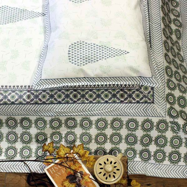 cotton printed bedcover set