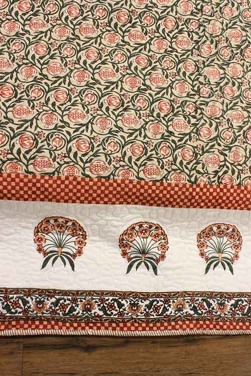 Quilted bedcover set