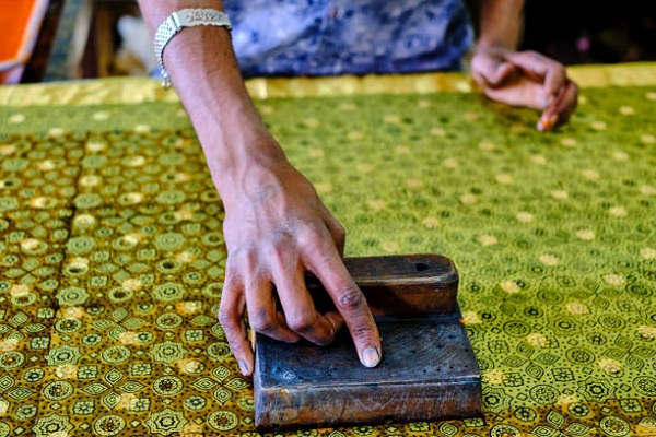 traditional hand block printing technique